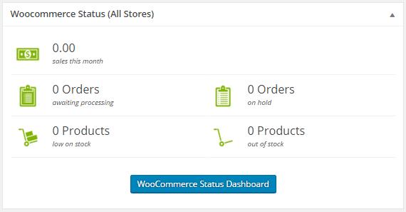WooCommerce Status Widget