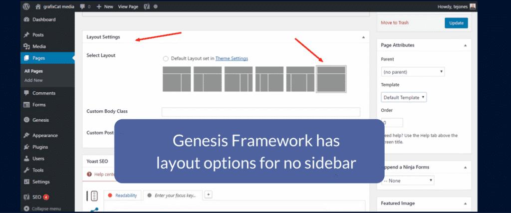 Genesis has layout options