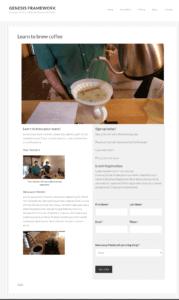 Genesis Framework Landing page