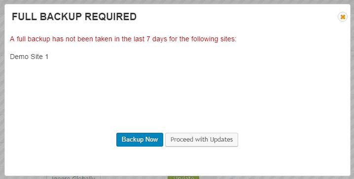 Backup Before Update