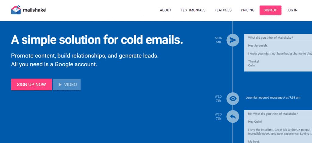 Screenshot: Mailshake.com