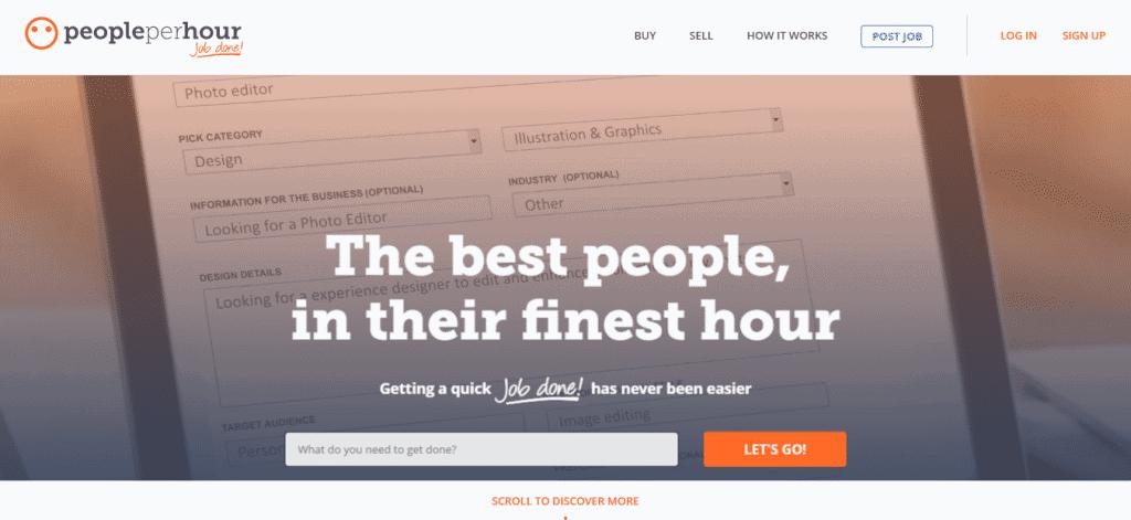 PeoplePerHour.com Hire Freelancers Online Find Freelance Work