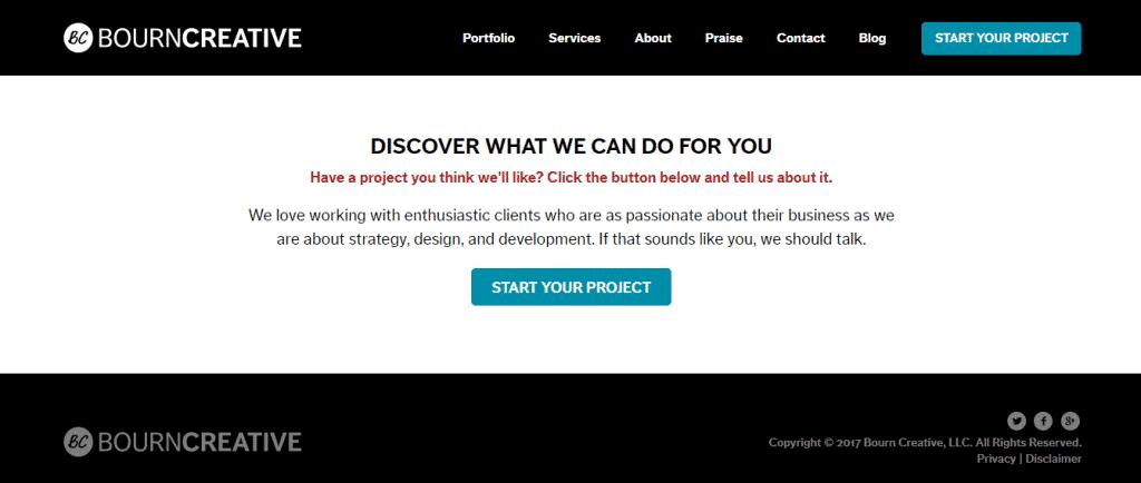 Screenshot: Bourne Creative