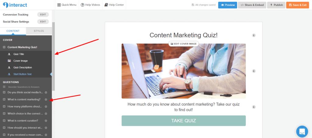 Customize Quiz