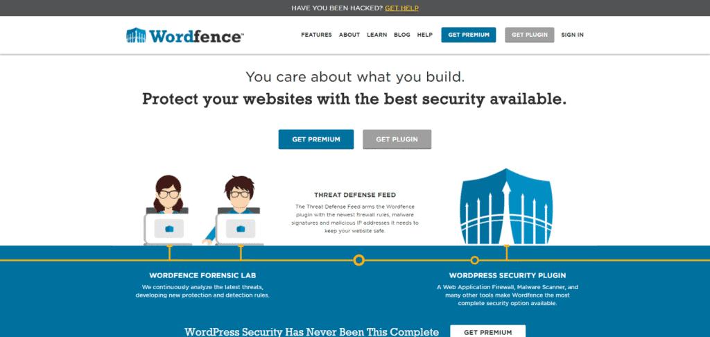 Screenshot: Wordfence.com