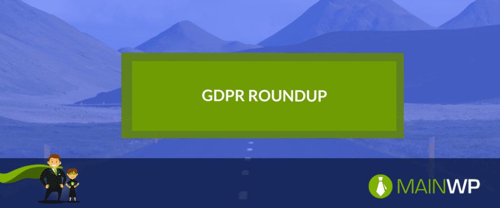 GDPR Roundup