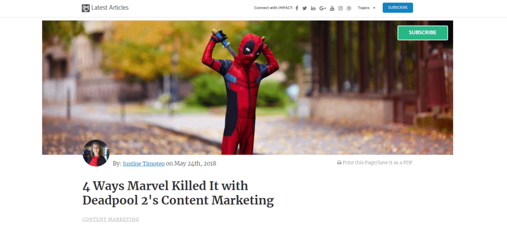 4 Ways Marvel Killed It with Deadpool 2 s Content Marketing