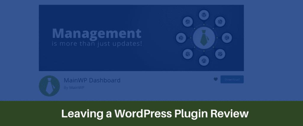 Leaving a WordPress Plugin Review