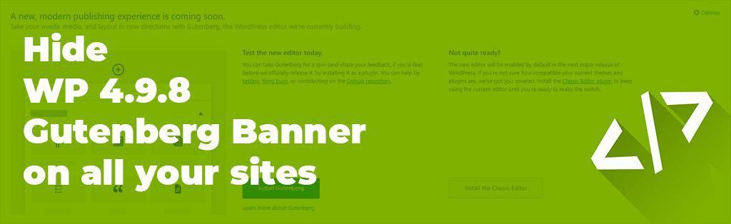remove gutenberg banner