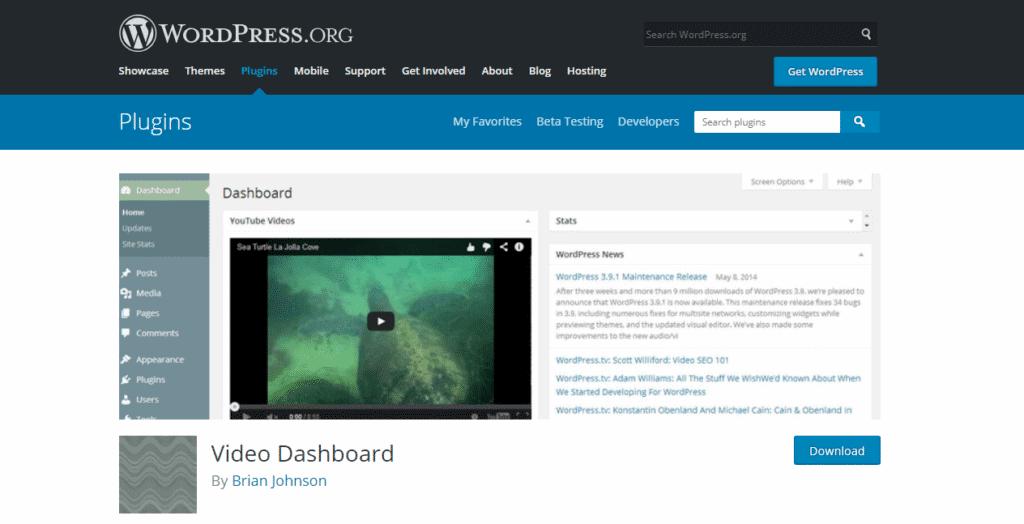 Screenshot: Demo of Download Easy Support Videos Plugin