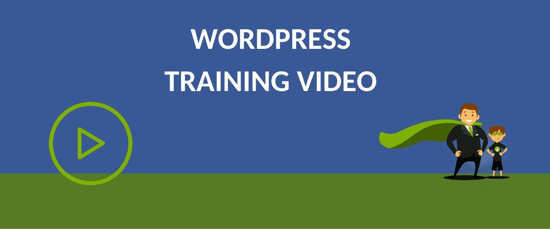 WORDPRESS TRAINING VIDEO