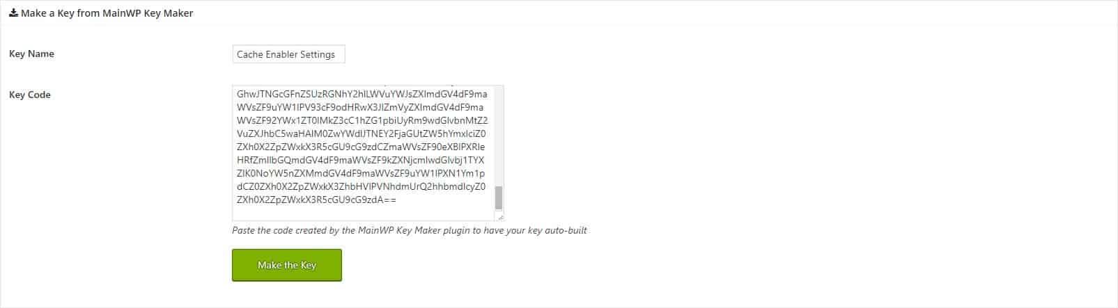 Make a new Bulk Settings Manger Key
