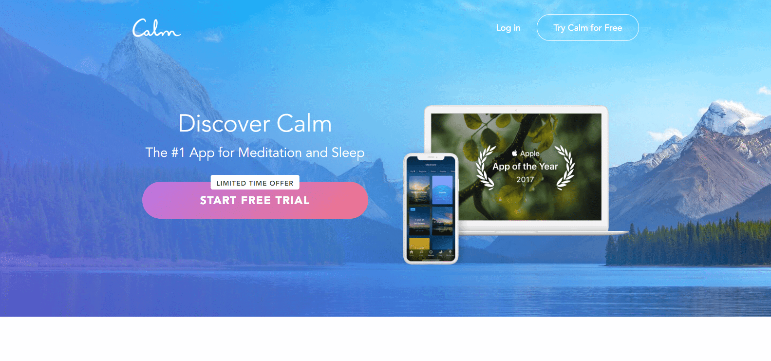 Screenshot: Calm.com