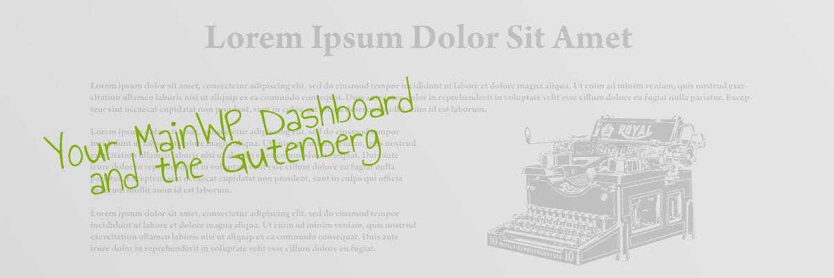 MainWP & Gutenberg