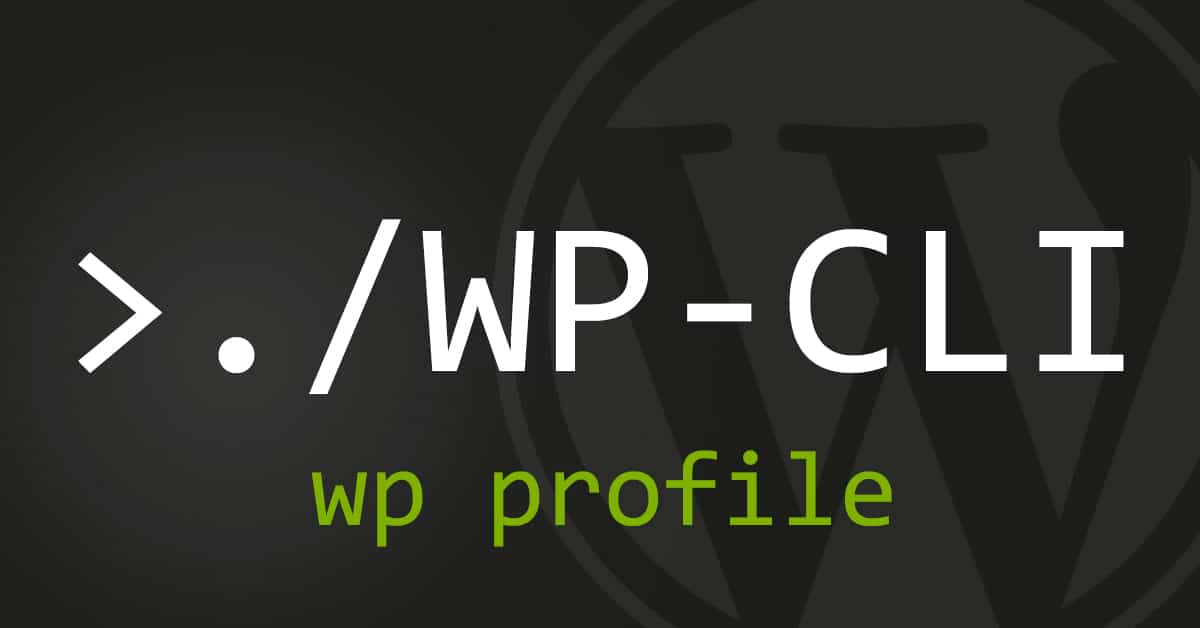 wp profile - WP CLI Command