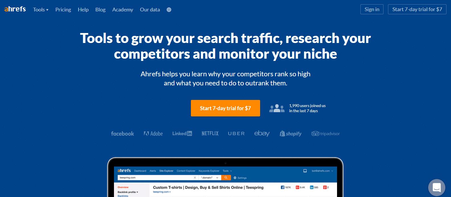 Screenshot: ahrefs.com