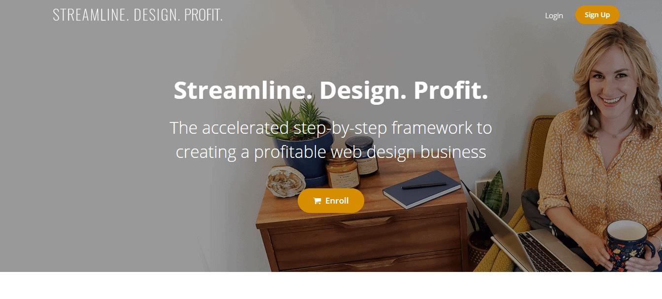 Screenshot: www.streamlinedesignprofit.com