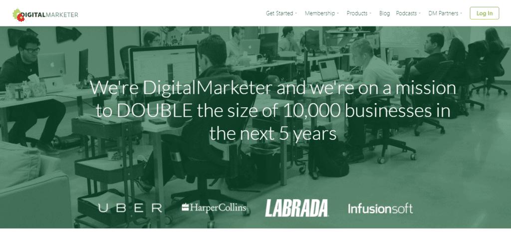 Screenshot: www.digitalmarketer.com/about-us/