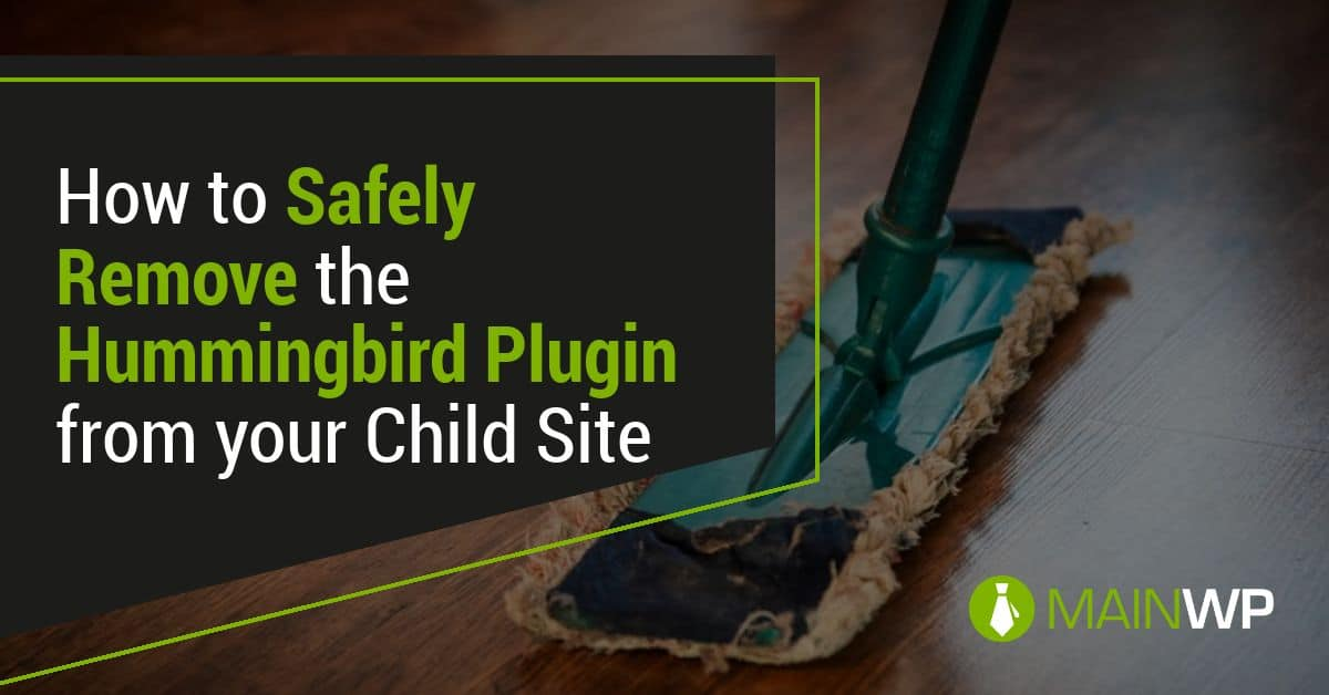 How to Safely Remove the Hummingbird Plugin from your Child Site
