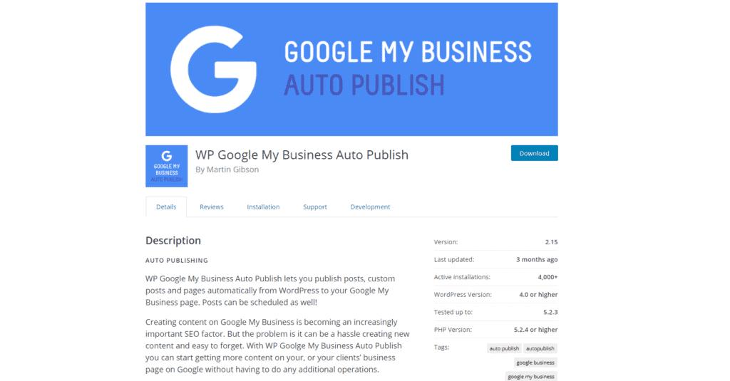 WP Google My Business Auto Publish