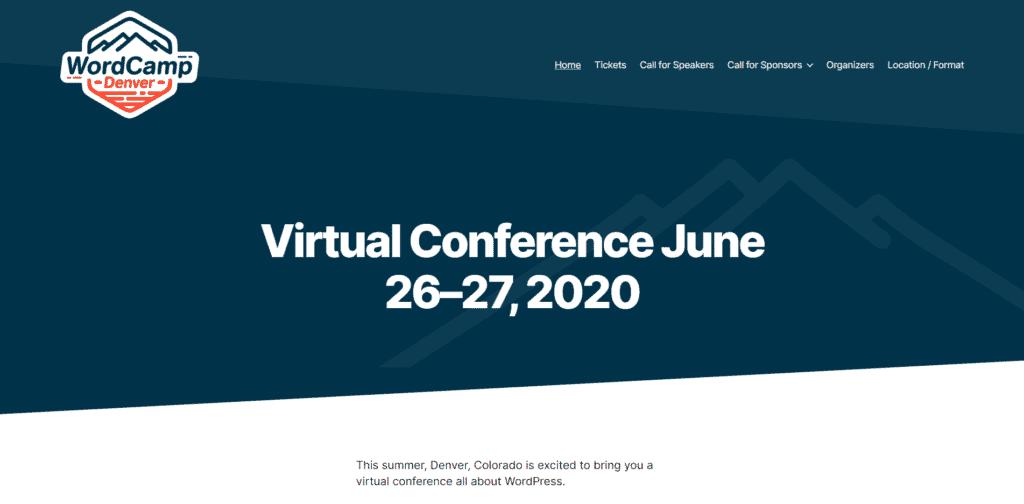Screenshot: WordCamp Denver