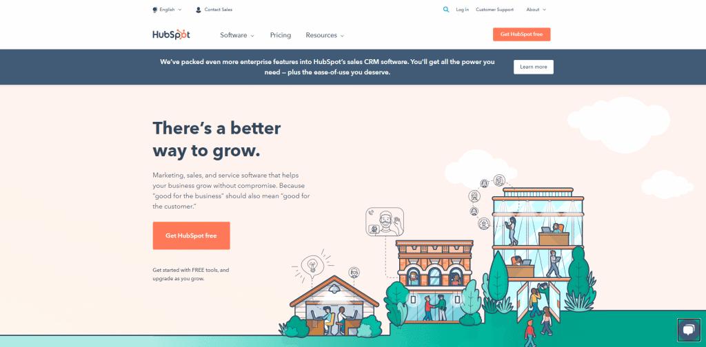 Screenshot: Hubspot.com