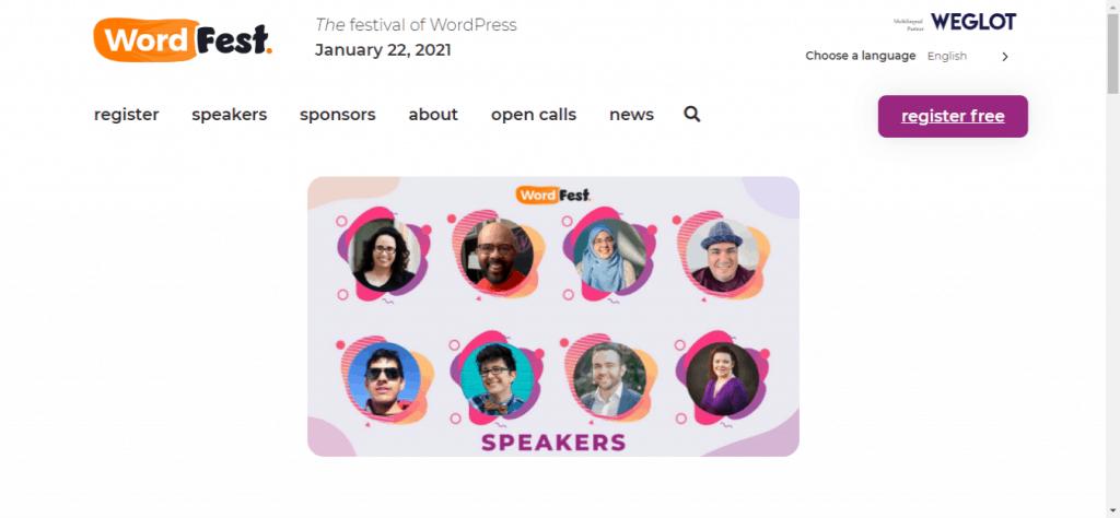 WordFest Speakers