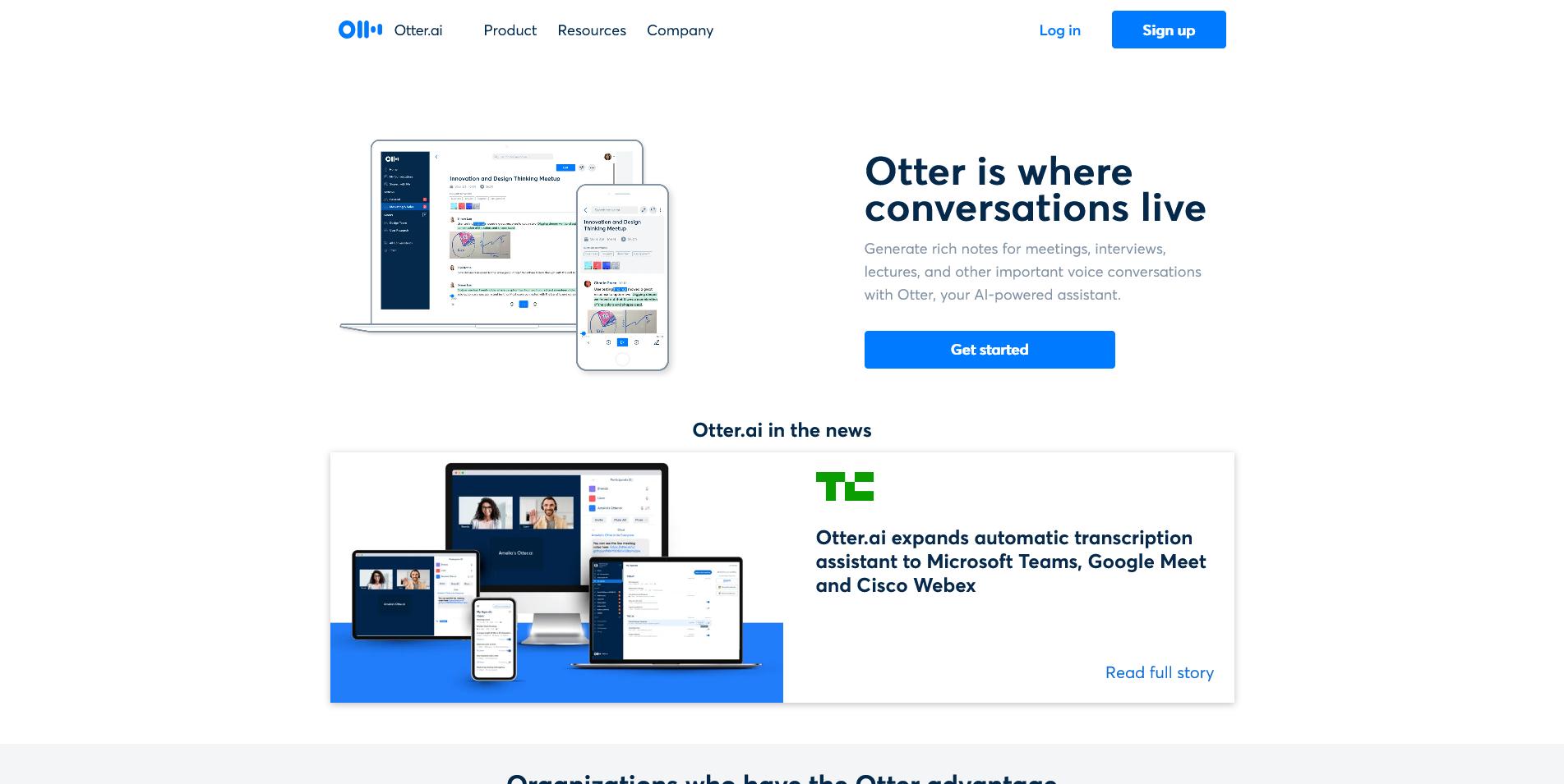 Screenshot: www.otter.ai