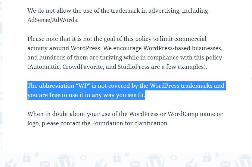 WP Trademark